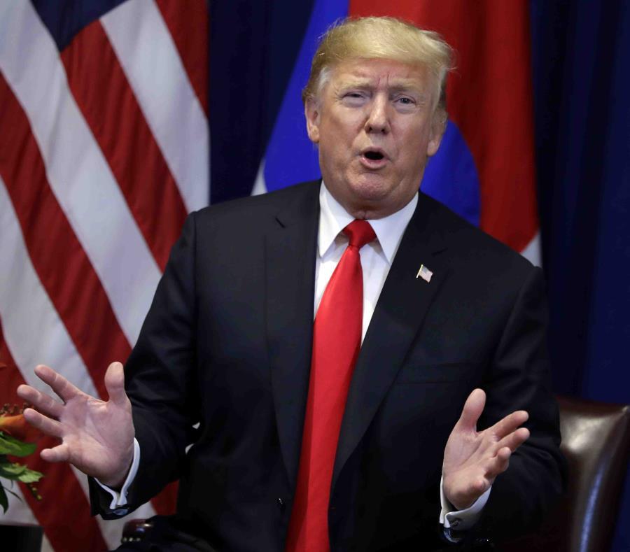 El presidente de los Estados Unidos, Donald Trump, hizo las declaraciones en una entrevista en el programa 60 minutos de la cadena CBS. (AP) (semisquare-x3)