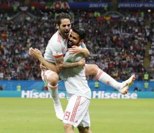 España rompe la barrera de Irán con gol de Diego Costa