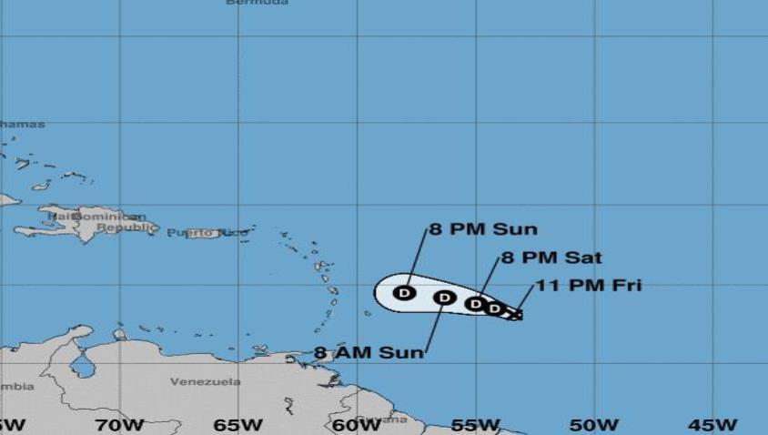 Tormenta Kirk avanza hacia el oeste por el Atlántico