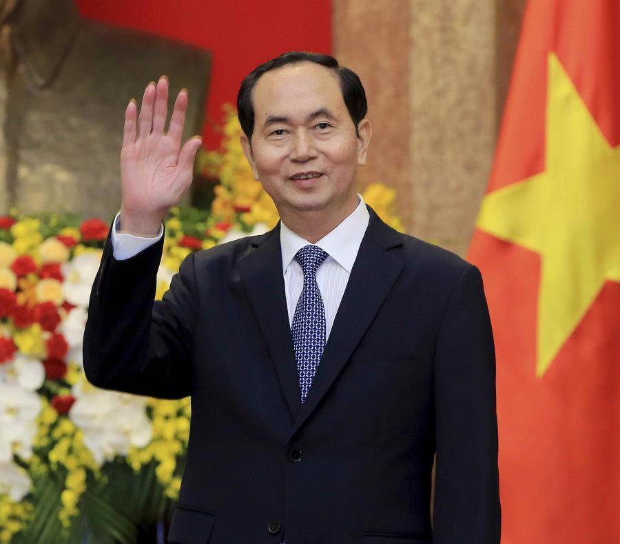 El presidente de Vietnam, Tran Dai Quang, en el palacio presidencial en Hanói, Vietnam. (AP) (semisquare-x3)