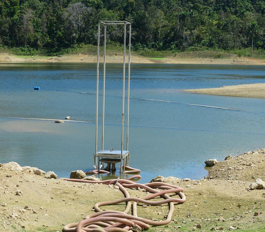 Guajataca tuvo ayer un aumento de nivel de siete centímetros. La segunda fase de los trabajos de estabilización en la represa debe culminar en mayo. (GFR Media) (semisquare-x3)