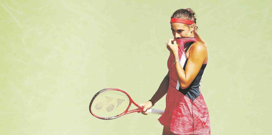 Mónica Puig ganaba 5-2 el primer set antes de que el partido se cancelara por lluvia. (AP / Archivo) (horizontal-x3)