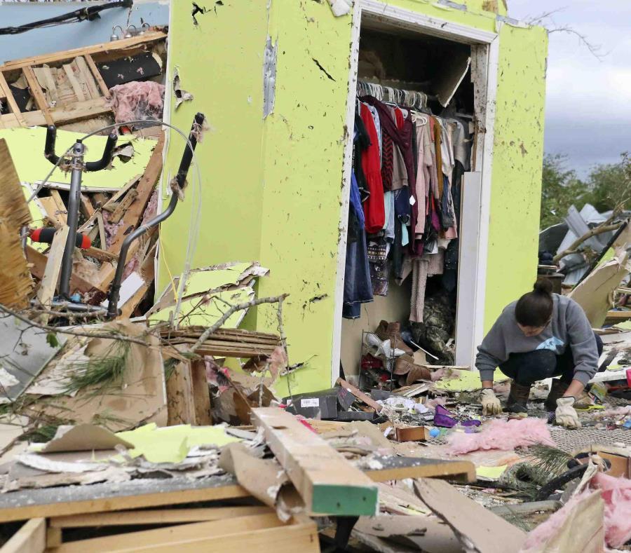 La escena después de las tormentas en Hamilton, Mississippi. (AP/Jim Lytle) (semisquare-x3)