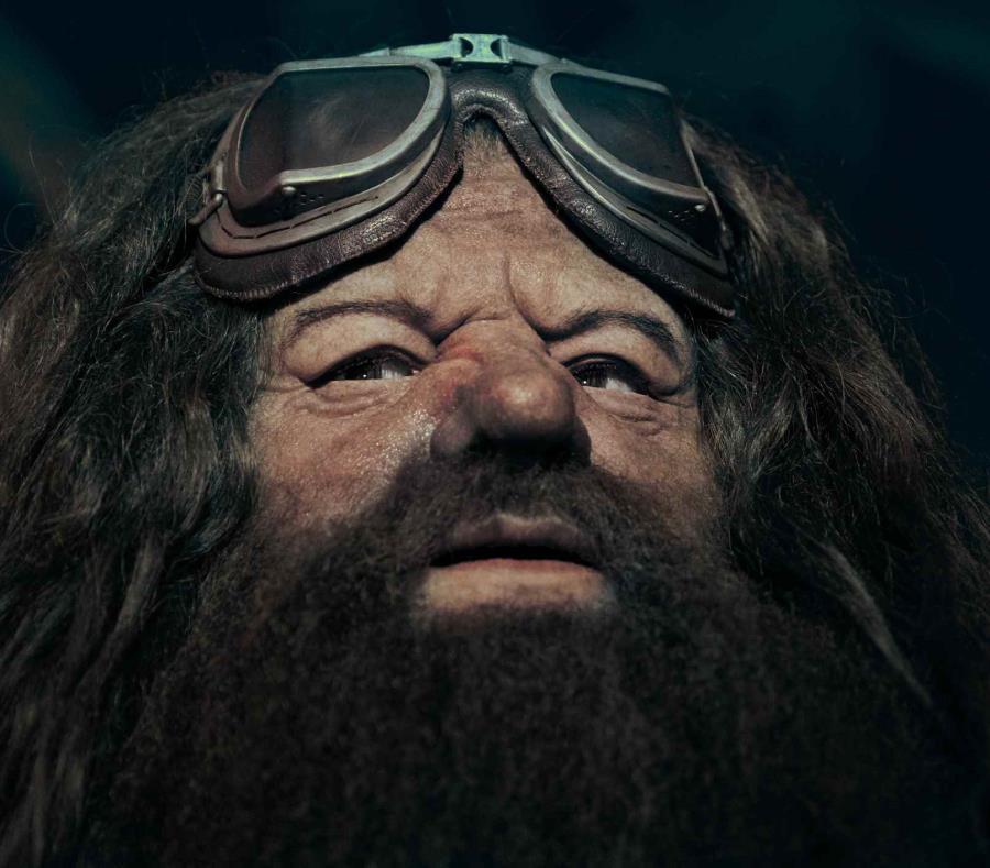 La figura animada tiene 24 movimientos corporales y expresiones faciales, imitando con exactitud los movimientos exactos del actor Robbie Coltrane como Hagrid de las películas de Harry Potter. (Suministrada) (semisquare-x3)