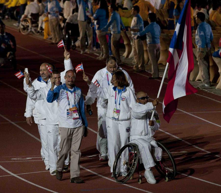 En esta foto de archivo, la delegación nacional desfila en los Juegos Parapanamericanos de Guadalajara 2011. (Straffon Images) (semisquare-x3)