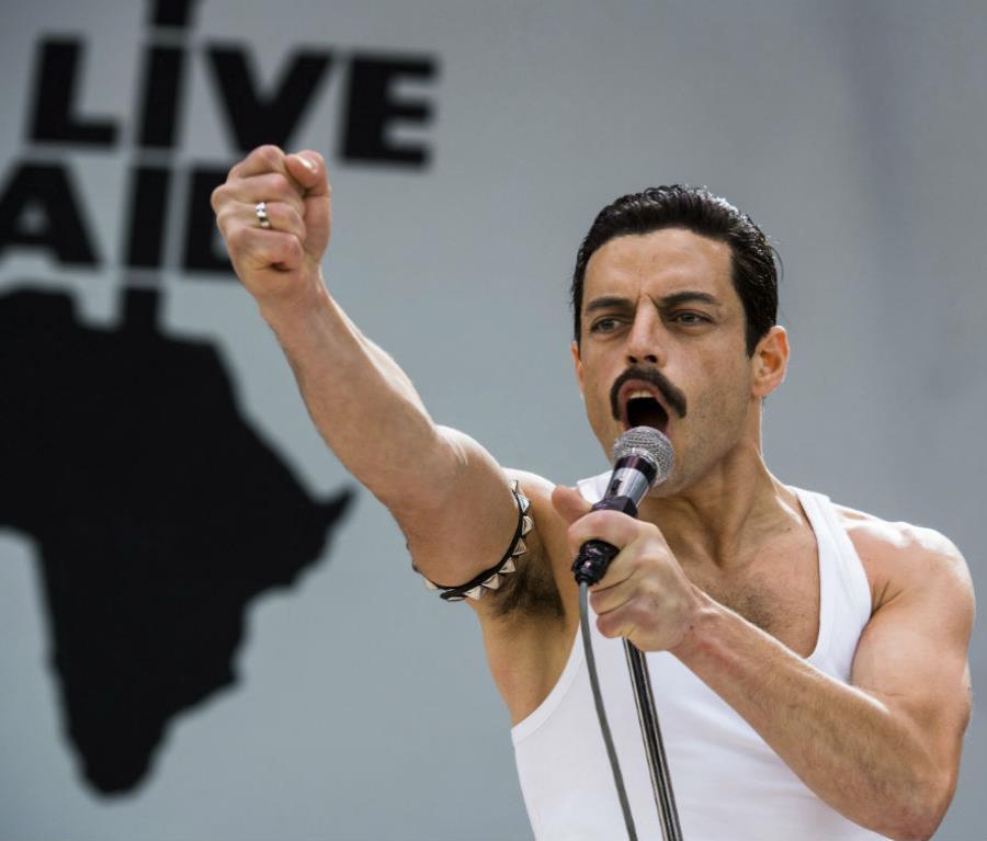 El actor  Rami Malek dio vida a  Freddie Mercury, líder de Queen. (semisquare-x3)