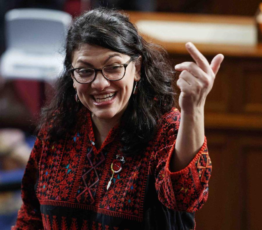 Rashida Tlaib, ahora representante demócrata por Michigan, en el Congreso en Washington el 3 de enero del 2019. (semisquare-x3)