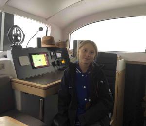 Greta Thunberg cruzará el Atlántico a bordo de un catamarán con energía renovable