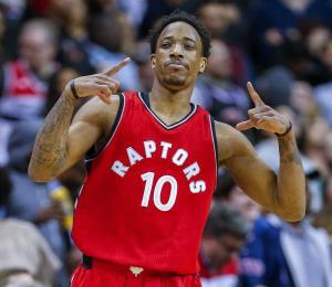 DeRozan anota 33 y los Raptors vencen a los Wizards