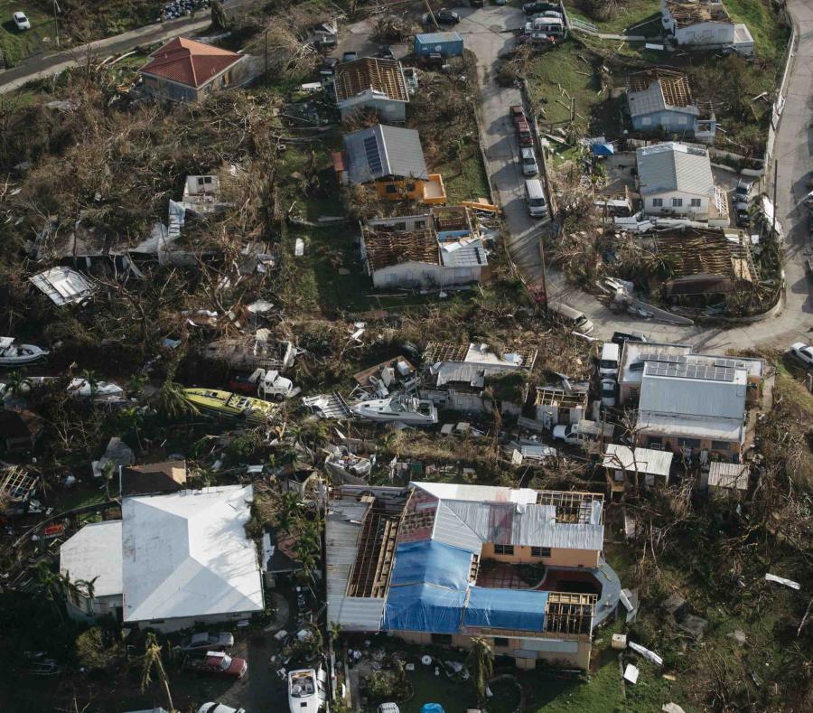Imagen de una zona de Islas Vírgenes tras el huracán Irma en 2017 (semisquare-x3)