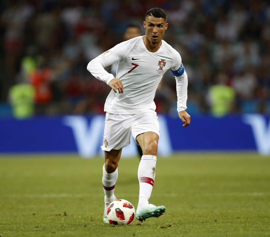 Cristiano Ronaldo durante un partido de Portugal en el Mundial de Rusia. (AP) (semisquare-x3)