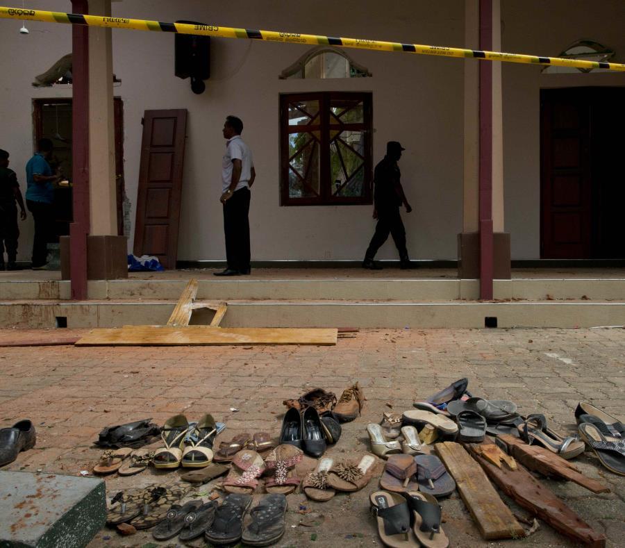 En la foto una de las iglesias que fueron atacadas en Sri Lanka (semisquare-x3)