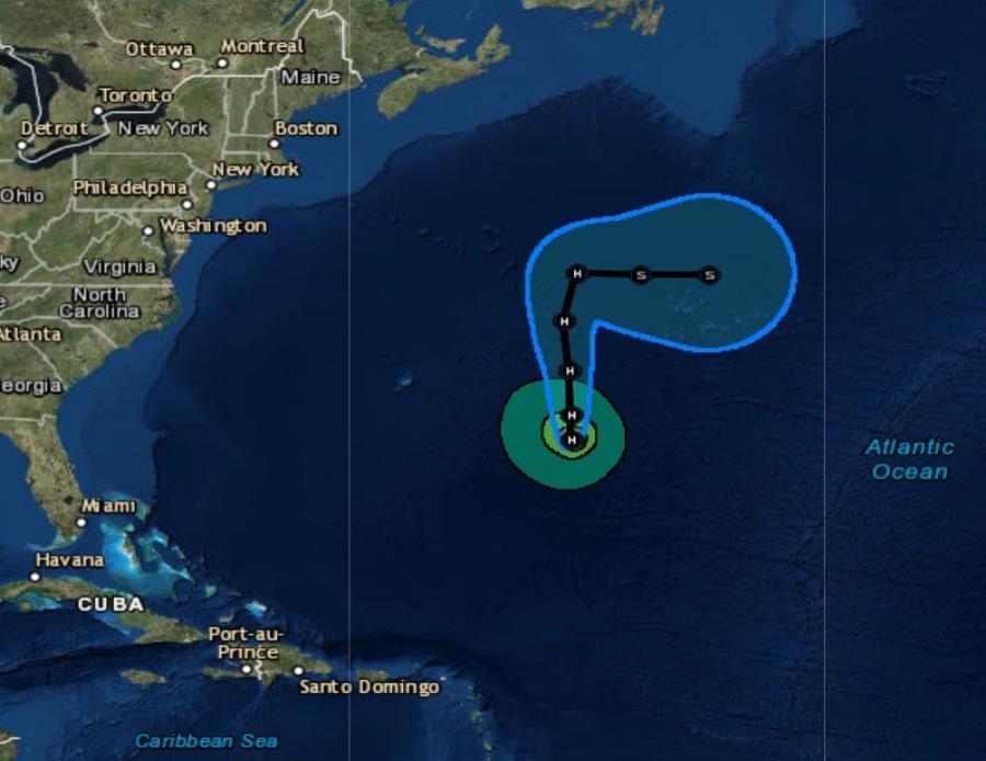 Leslie se mantiene como tormenta tropical, lejos de territorios poblados