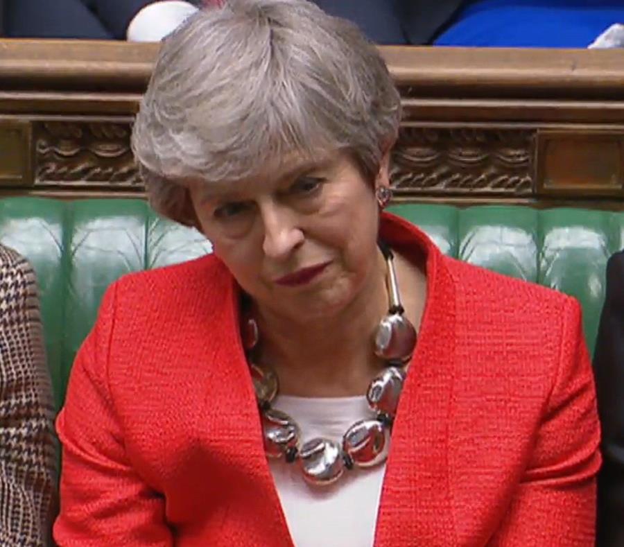La primera ministra británica, Theresa May (semisquare-x3)