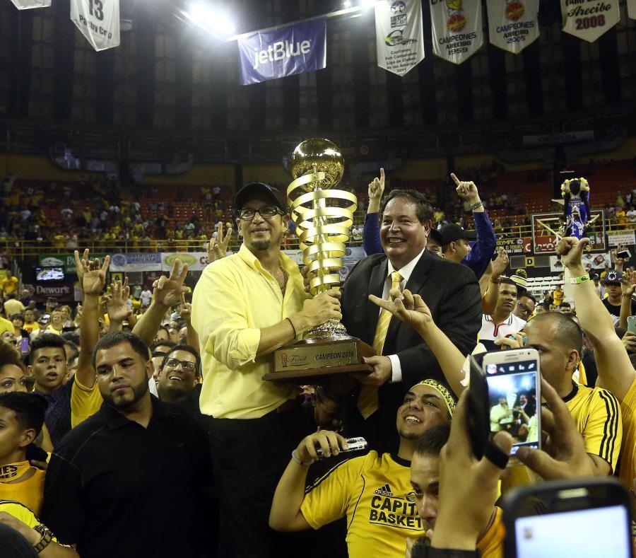 Los Capitanes de Arecibo, al momento, juegan su quinta final al hilo en el BSN. Su último campeonato fue en 2016 ante los Vaqueros de Bayamón. (GFR Media) (semisquare-x3)