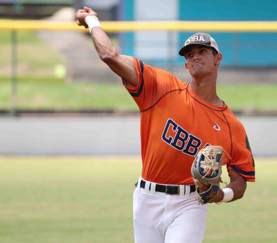 El prospecto Matthew Lugo, de la Carlos Beltrán Baseball Academy. (GFR Media) (semisquare-x3)