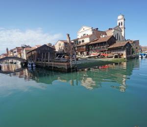 El agua de Venecia se aclara por la pandemia