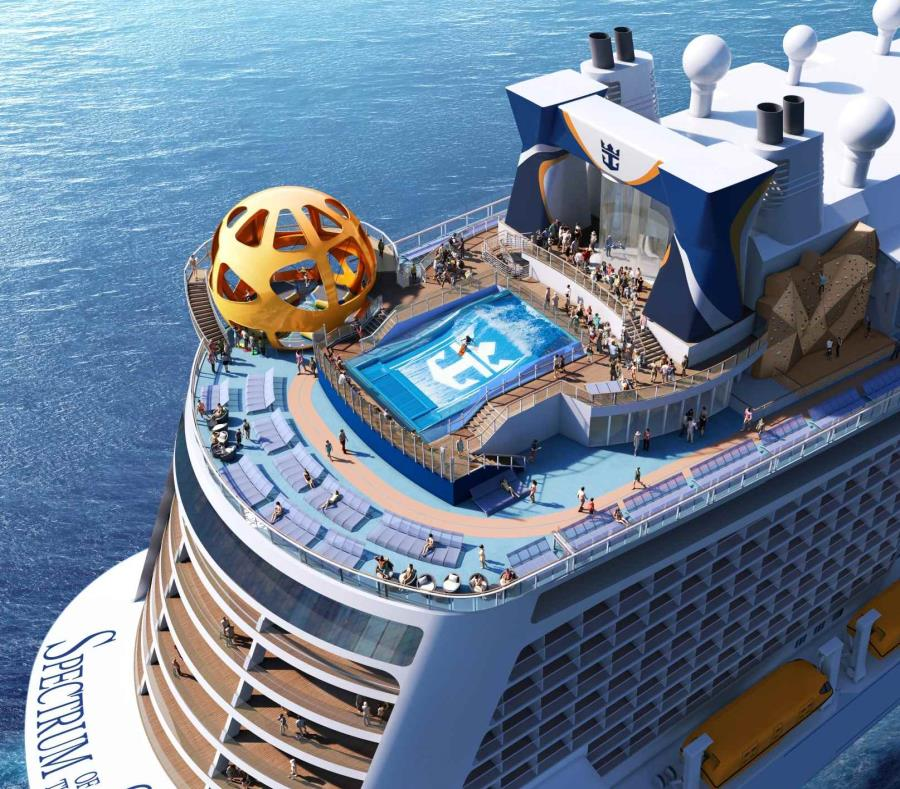 El Spectrum of the Seas, de la clase Quantum Ultra de Royal Caribbean, contará con un área exclusiva para suites, del piso 13 al 16. (semisquare-x3)