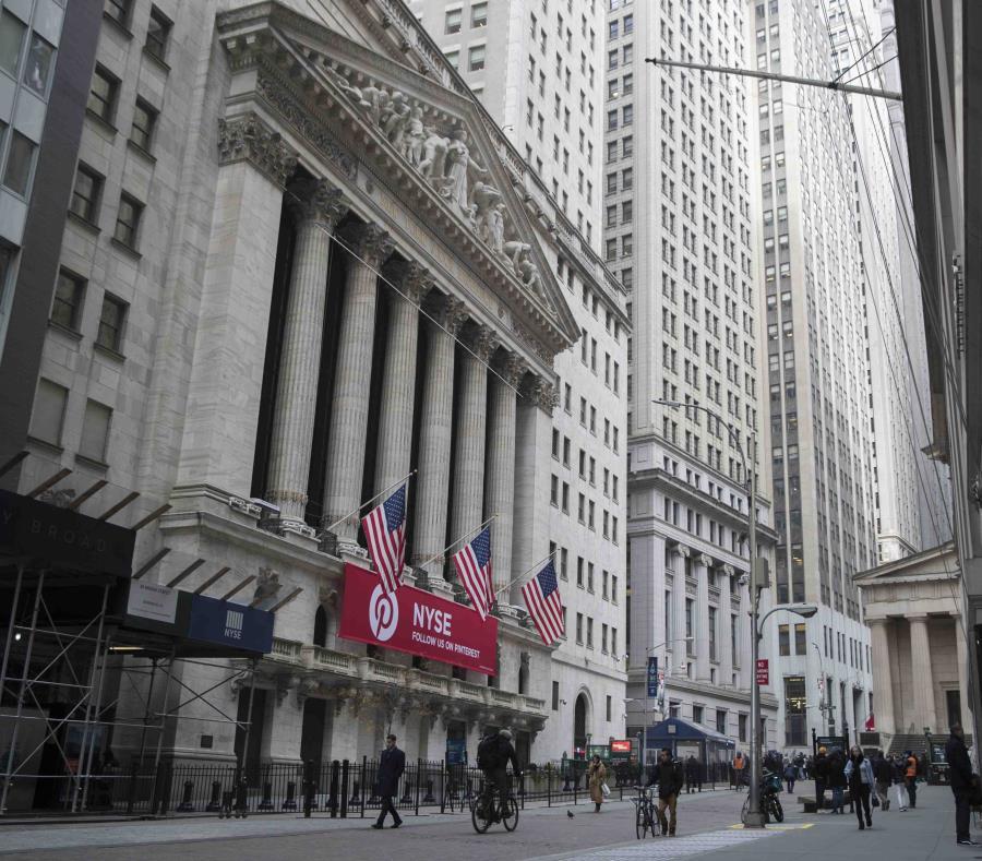La fachada de la Bolsa de Valores de Nueva York. (AP) (semisquare-x3)
