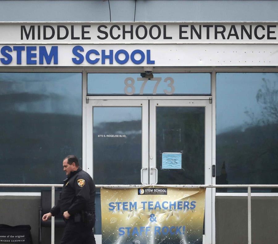 El ataque del martes en la escuela STEM dejó a un muerto y  ocho heridos. (AP) (semisquare-x3)