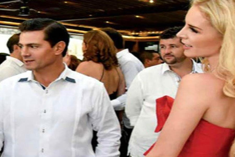 El expresidente Enrique Peña Nieto y Tania Ruiz (semisquare-x3)
