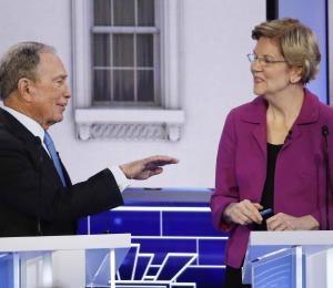El debate demócrata: Bloomberg y Warren