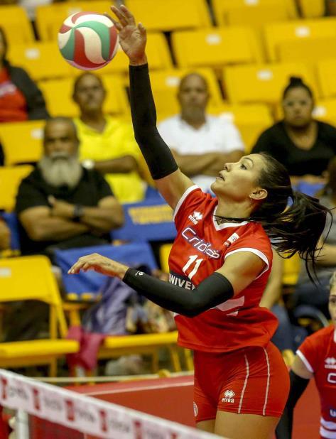 Karina Ocasio encabezó la ofensiva de las Criollas y cargó al equipo en la temporada regular, especialmente cuando no tuvo a todas sus piezas. (vertical-x1)