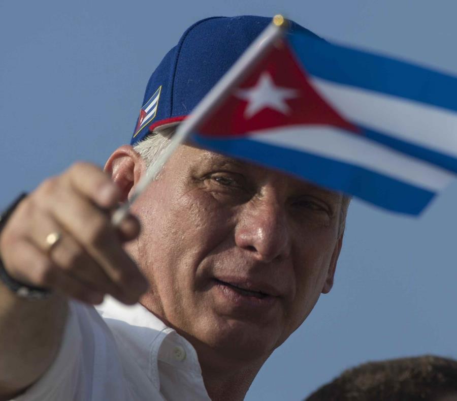 El presidente de Cuba, Miguel Díaz Canel (semisquare-x3)