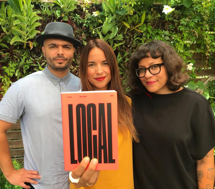 """El artista Tony Rodríguez, la gestora cultural Hazel Colón, y la fotógrafa y editora Mariángel González son los creadores de """"LOCAL"""". (Suministrada) (semisquare-x3)"""