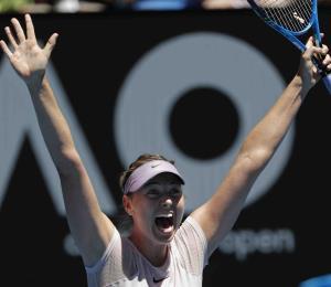 Maria Sharapova avanza a la tercera ronda del Abierto de Australia