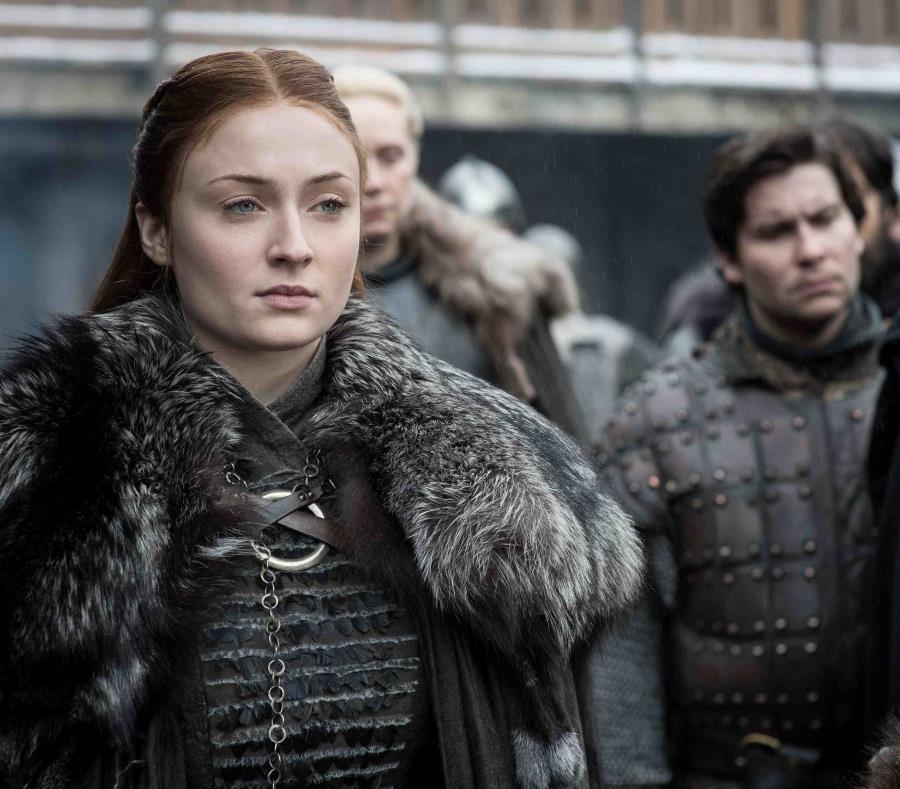 Sansa Stark, interpretada por la actriz Sophie Turner, ha tenido una de las evoluciones emocionales más significativas de la serie. (HBO) (semisquare-x3)