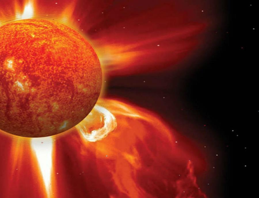 Al impactar contra la ionosfera terrestre, las emisiones solares provocan las luces que conocemos como auroras boreales y australes. (NASA) (semisquare-x3)