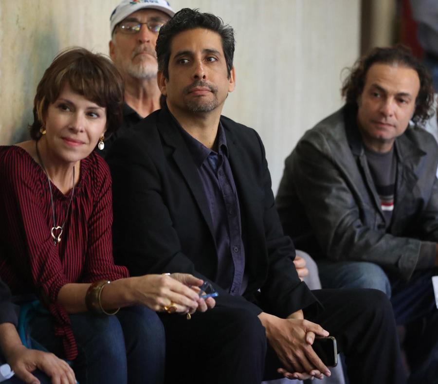 Cristina Soler, Ernesto Concepción y Jerry Segarra durante la conferencia de prensa celebrada ayer en el Centro de Bellas Artes de Santurce. (semisquare-x3)