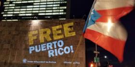 Proyectan en el edificio de la ONU reclamos a favor de la independencia de Puerto Rico