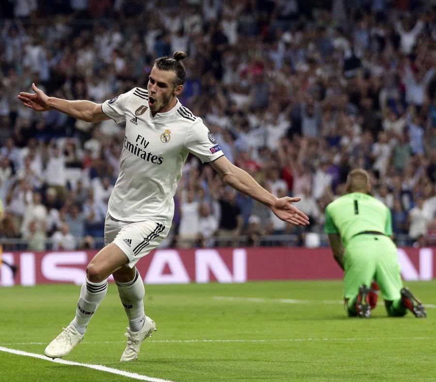 Gareth Bale celebra su gol en el partido. (AP) (semisquare-x3)