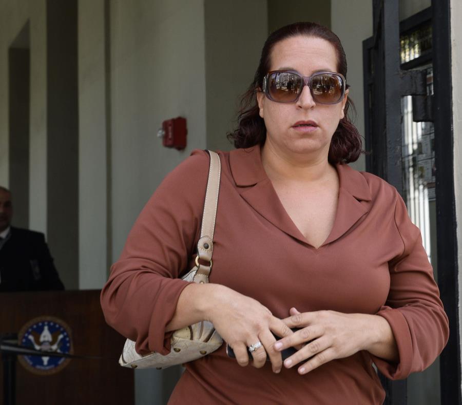 Marcia Vázquez Rijos hoy en el Tribunal Federal del Viejo San Juan. (semisquare-x3)