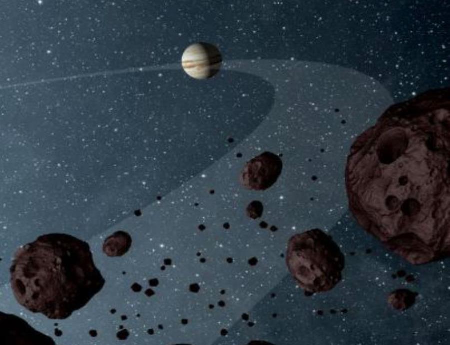 De acuerdo con los resultados, originalmente Júpiter se formó cuatro veces más lejos del Sol.  (NASA/JPL-Caltech) (semisquare-x3)