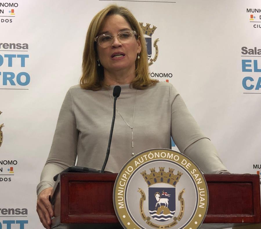 La alcaldesa de San Juan, Carmen Yulín Cruz, durante la conferencia de prensa. (David Cordero) (semisquare-x3)