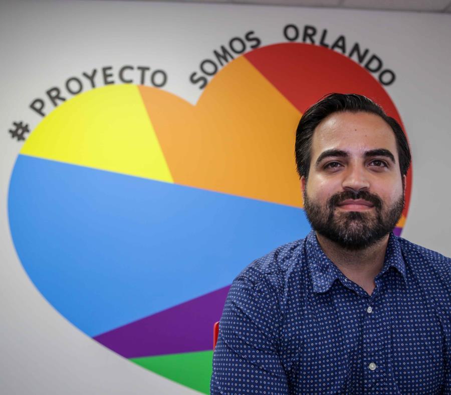 Ricardo Negrón, director del proyecto Somos Orlando de Hispanic Federation. (semisquare-x3)