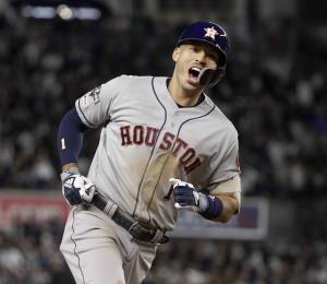 Carlos Correa en luna de miel con Houston