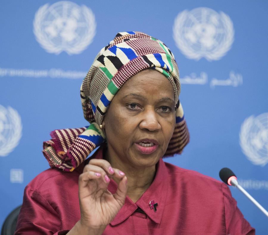 Phumzile Mlambo-Ngcuka, directora general de la agencia de la ONU para asuntos femeninos, cree que el asunto se ha vuelto más visible en los últimos años porque los perpetradores están enfrentando repercusiones. (AP / Mary Altaffer) (semisquare-x3)