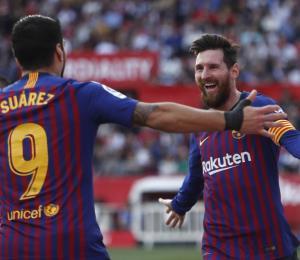El Barcelona impone su ley en Sevilla