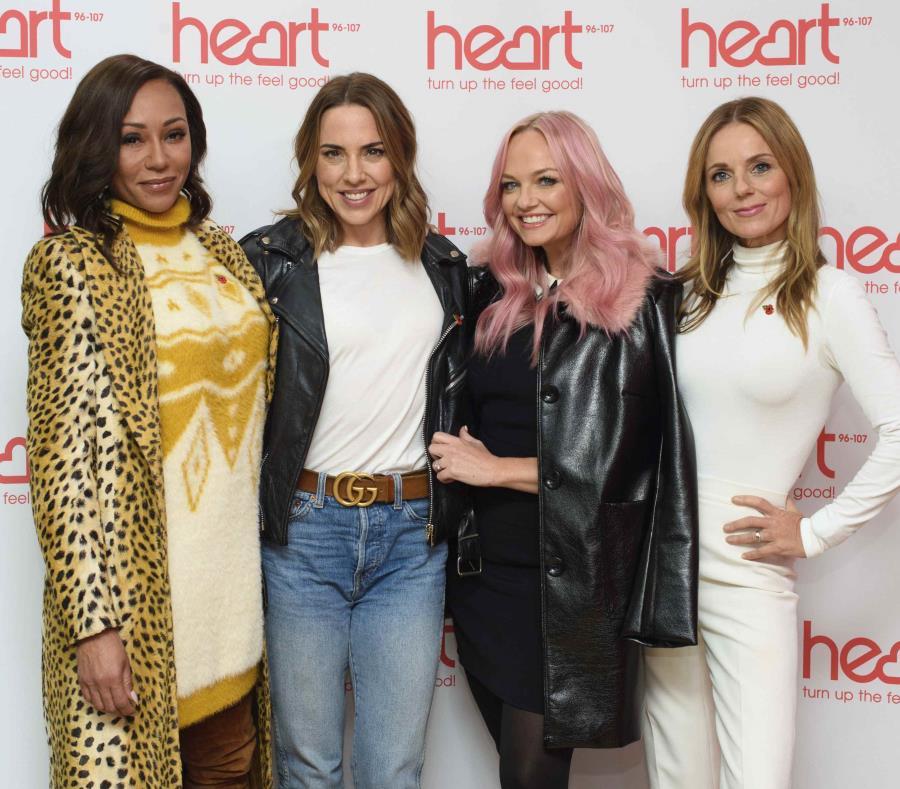 Las Spice Girls, Melanie Brown (izquierda), Melanie Chisholm, Emma Bunton y Geri Horner. (semisquare-x3)