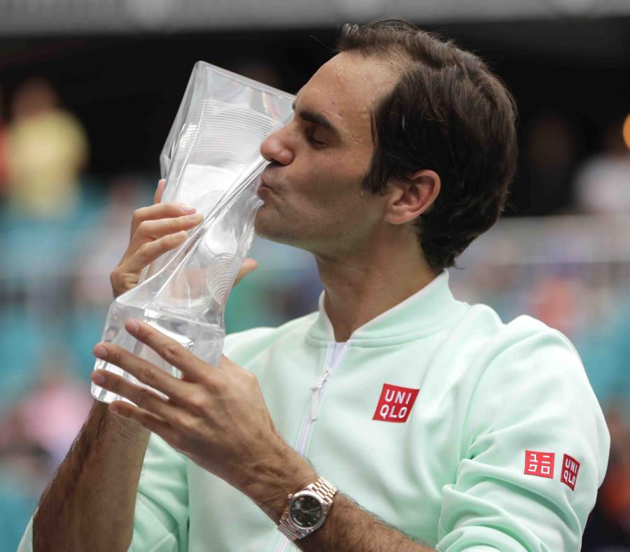 Este es el cuarto título de Federer en Miami. (AP/Lynne Sladky) (semisquare-x3)