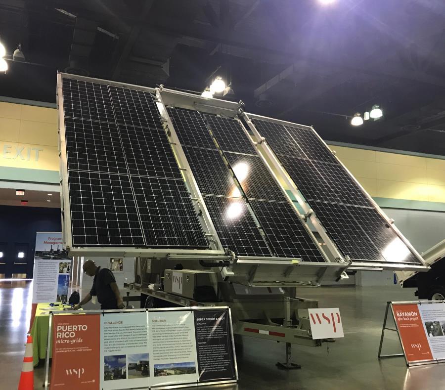 El sistema híbrido combina energía solar, baterías y generadores eléctricos en una misma unidad móvil. (Suministrada) (semisquare-x3)