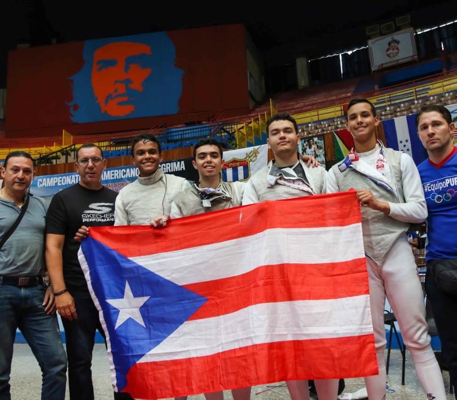 La Selección de florete obtuvo la clasificación a los Juegos Panamericanos de 2019 en Lima, Perú, mediante su actuación en el torneo en Cuba. (Suministrada / Raiko Martín) (semisquare-x3)