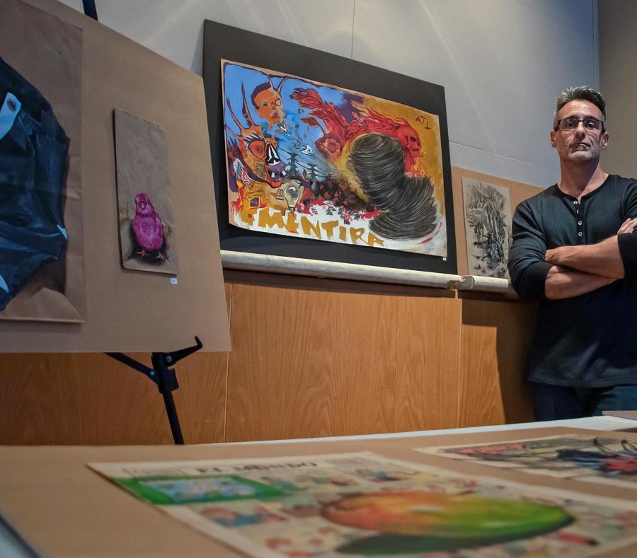 El artista Jorge Vega, conocido como Ibaiko, presentó recientemente su arte mariano en una actividad privada  realizada en el Museo de Arte de Puerto Rico. (semisquare-x3)
