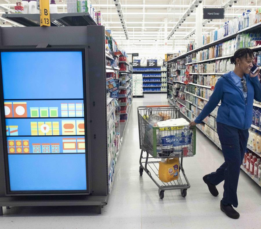 """El jueves, la empresa inaugurará su """"Tienda Automatizada"""" dentro de un supermercado en Long Island. (AP/ Mark Lennihan) (semisquare-x3)"""