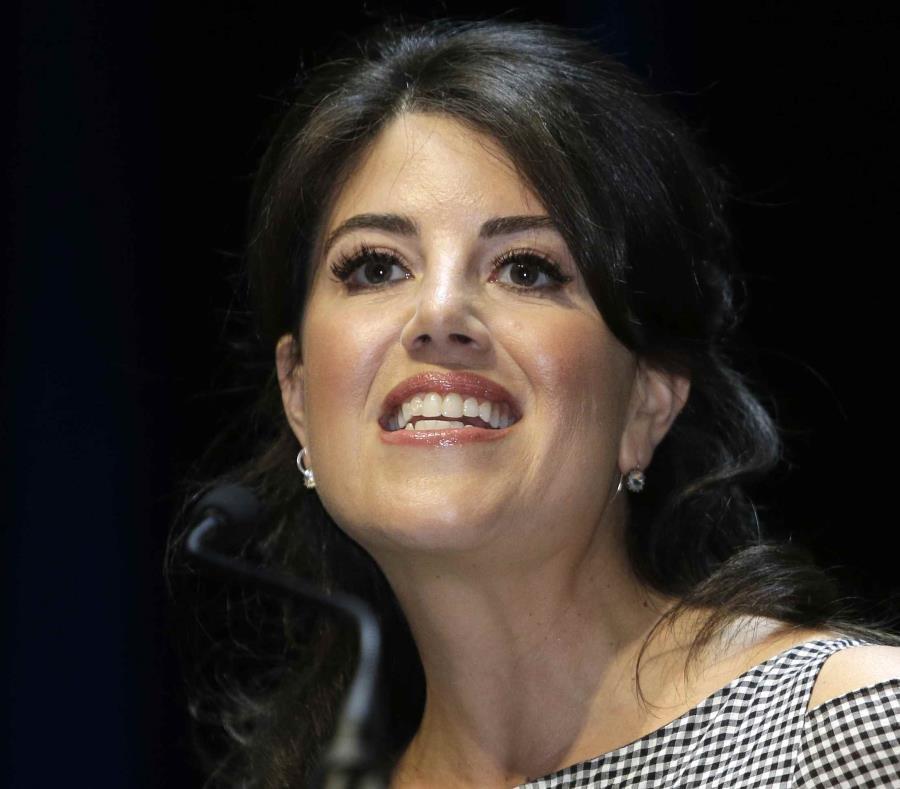 Monica Lewinsky ofreció una conferencia sobre los peligros de Internet.  (AP) (semisquare-x3)