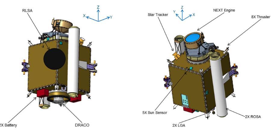 Vista de la nave espacial que chocará contra el asteroide Didymos. (NASA.gov)